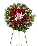 Red rose wreath